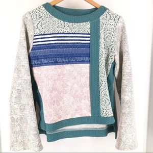 Anthropologie Postage Stamp Bell Sleeve Sweater